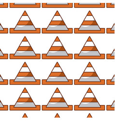 Cone construction pattern background vector