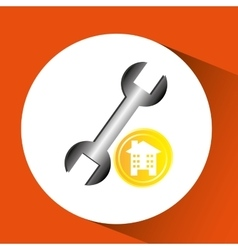 Construction remodel wrench icon graphic vector