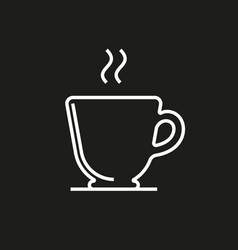 Cup simple icon on black background vector