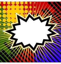Empty comic colored speech bubble vector image vector image