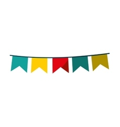 Garlands circus isolated icon vector