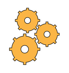 Gear wheel team work vector