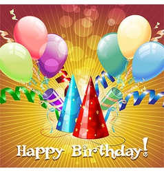 Greeting card with baloons vector image
