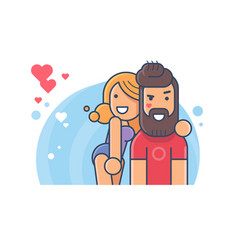 happy couple in love vector image