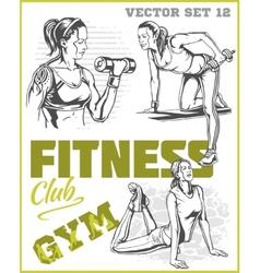 Healthy fitness girls vector