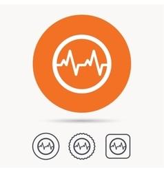 Heartbeat icon cardiology symbol vector