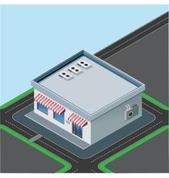 isometric little shop vector image vector image