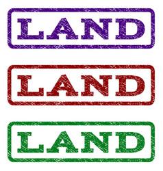 Land watermark stamp vector
