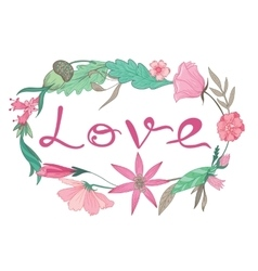Love Lettering Vignette vector image vector image