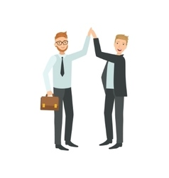 Managers giving high five teamwork vector