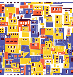 Mediterranean town sunny village indian slums vector