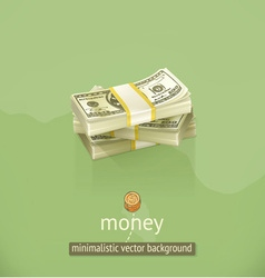 Money minimalistic background vector image