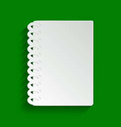 Notebook simple sign paper whitish icon vector