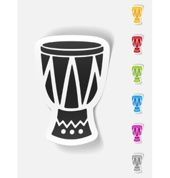 realistic design element drum vector image