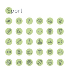 Round Sport Icons vector image