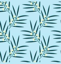 seamless eucalyptus pattern vector image