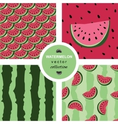 Seamless pattern with watermelons and dots vector