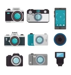 Set photographic equipment design vector
