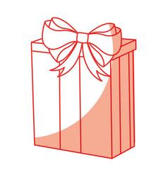 Shadow christmas gift cartoon vector