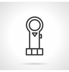 Simple line piston icon vector