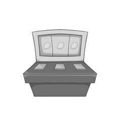 Slot machine icon black monochrome style vector image vector image