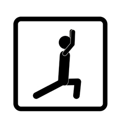 square shape pictogram with man squat icon vector image