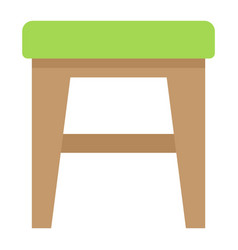 Stool flat icon furniture and interior vector