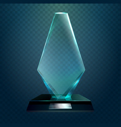 transparent rhombus cup or trophy prize vector image