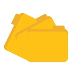Yellow files data center related vector