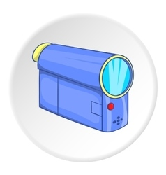 Film projector icon cartoon style vector