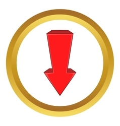Red arrow icon vector image