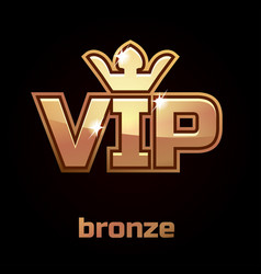 bronze vip symbo set 3 vector image