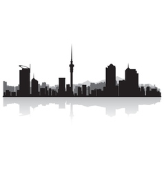 Auckland city skyline silhouette vector