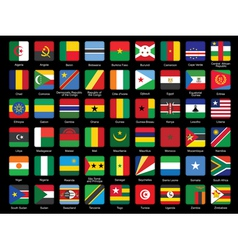 Set of african flags icons vector