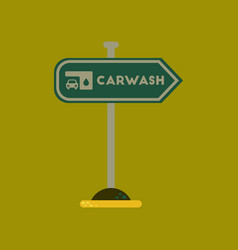 Flat icon on background car wash sign vector