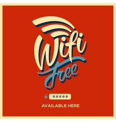 Free wifi symbol retro style vector