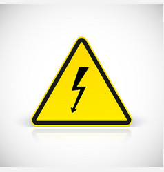Attention electric shock signs vector