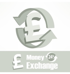Pound symbol in grey vector