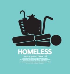Black symbol graphic of homeless vector
