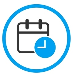 Date time circled icon vector