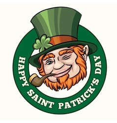 Saintt patricks day badge vector