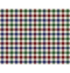 Colored checked fabric texture seamless pattern vector
