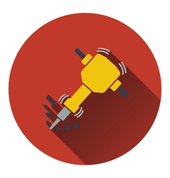 Icon of construction jackhammer vector