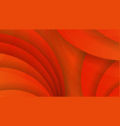 Abstract background of orange color curved lines vector