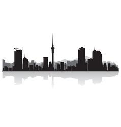 Auckland city skyline silhouette vector