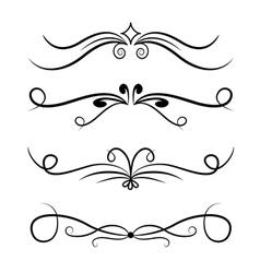Calligraphic design element set number one vector