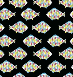 cartoon funny fish Underwater life vector image
