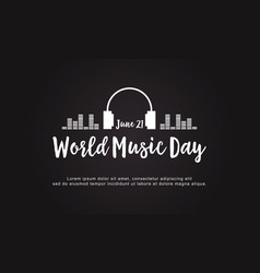 Celebration world music day style background vector