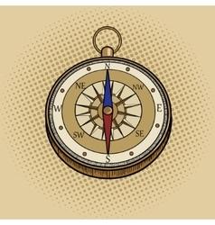 Compass retro pop art style vector