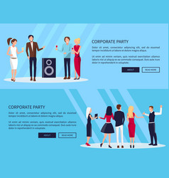 corporate party web page vector image vector image